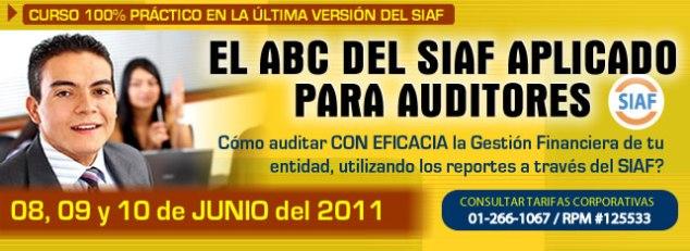 EL ABC DEL SIAF APLICADO PARA AUDITORES
